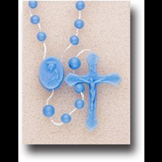 Blue Plastic Cord Rosary