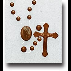 Brown Plastic Cord Rosary