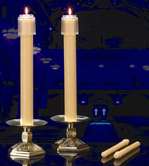 """Wedding Altar Candles: 100% Beeswax Candles 1 1/8"""" X 15"""" SFE"""