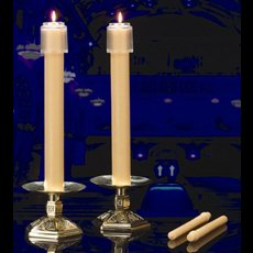 "100% Beeswax Candles 11/16"" x 9-1/4""  PE"