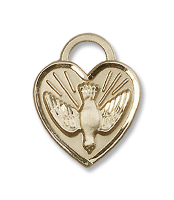GOLD FILLED CONFIRMATION HEART PENDANT