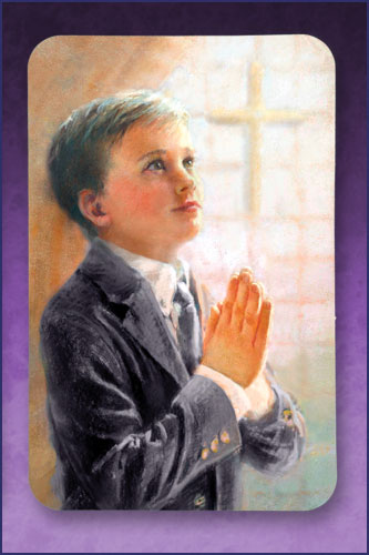 KATHY FINCHER FIRST COMMUNION HOLY CARD - BOY
