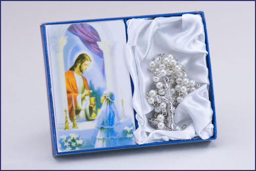 First Communion Rosary and Traditions Prayer Card - Girls