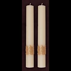 "Ornamented Side Altar Candles 1-1/2"" x 12"""