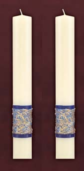 "Sea of Galilee Side Altar Candles 1-1/2"" x 12"""