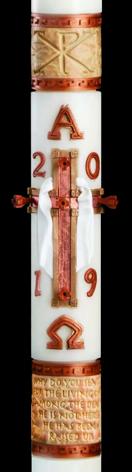 "Luke 24 Paschal Candle - 1 15/16"" x 39"""