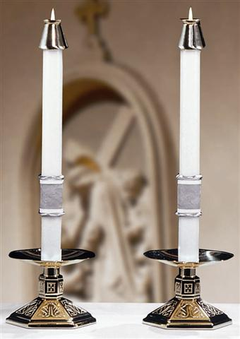 Way of the Cross Altar Candles - 1.5 x 17 (Pair)