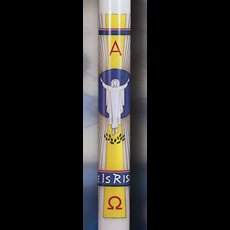 He Is Risen Paschal Candle - 1-1/2 x 34
