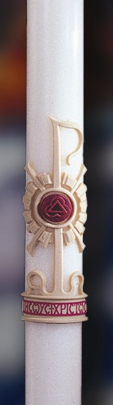 Holy Trinity Paschal Candle - 1-1/2 x 34