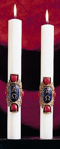 Christ Victorious Altar Candles - 1-1/2 x 12 (Pair)