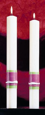 Easter Glory Altar Candles - 1-1/2 x 12 (Pair)