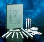 Candlelight Vigil Service Set with 425 Congregational Candles, 6 Usher Candles and 1 Celebrant Candl