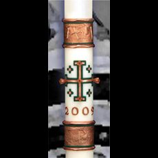 "Spirit of Jerusalem Paschal Candle - 1 15/16"" x 39"""