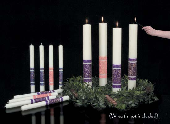 "ArtisanWax Advent Candles - 3-1/2"" x 18"" PE"