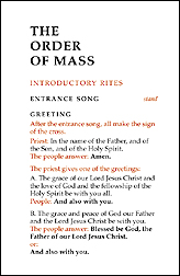 Order of Mass: Large Print Edition