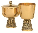 Gold Plated Sterling Chalice for Sale