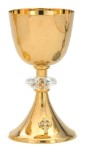 Sterling Chalice and Paten Set for Sale (Gold Plated)