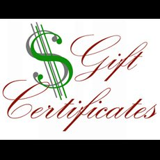 Gift Certificates - Starting at $5.00