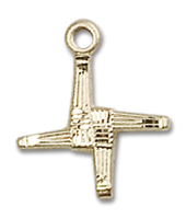 14kt Gold Filled St. Brigid Pendant Gold Filled Lite Curb Chain