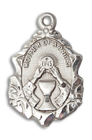 Sterling Silver Mother of a Priest Pendant 18 inch Sterling Silver Curb Chain