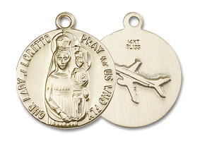 14kt Gold O/L of Loretto Medal