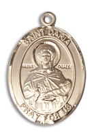 14kt Gold Filled St. Daria Pendant Stainless Gold Heavy Curb Chain