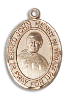 14kt Gold Filled Blessed John Henry Newman Pendant Stainless Gold Heavy Curb Chain
