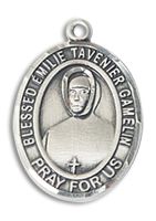 Sterling Silver BLESSED EMILIE TAVERNIER GAMELIN Pendant Stainless Silver Heavy Curb Chain