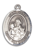 Sterling Silver San Jose Pendant 18 inch Sterling Silver Curb Chain
