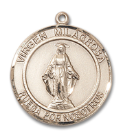 14kt Gold Filled Virgen Milagrosa Pendant 18 inch Gold Filled Curb Chain