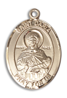 14kt Gold Filled St. Daria Pendant 18 inch Gold Filled Curb Chain