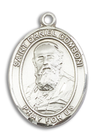 Sterling Silver St. Daniel Comboni Pendant 18 inch Sterling Silver Curb Chain