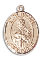14kt Gold Filled St. Fidelis Pendant 18 inch Gold Filled Curb Chain