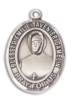Sterling Silver BLESSED EMILIE TAVERNIER GAMELIN Pendant 18 inch Sterling Silver Curb Chain