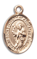 14kt Gold Filled St. Joseph Of Arimathea Pendant GF Lite Curb Chain