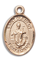 14kt Gold Filled St. Clement Pendant GF Lite Curb Chain