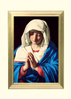 Virgin In Prayer Mass Card