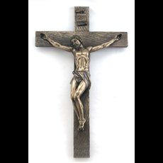 "17"" Bronze Resin Crucifix"