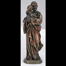 "8"" St Joseph/Child Rsn Brnze"