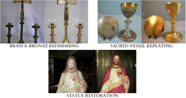 Antique Church Restoration Statues Metal