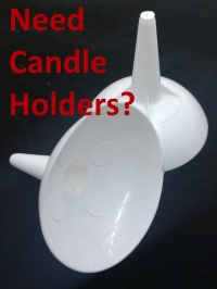 Plastic Candle Holder Button