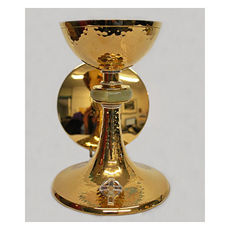 "7 3/4"" Sterling Silver Church Chalice & 5 3/4"" Scale Paten"
