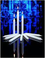 "Stearine Congregational Vigil Candles 17/32"" x 7"""