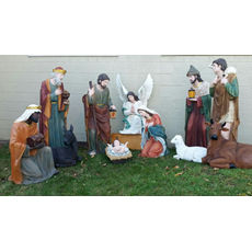"59"" Tall Outdoor Nativity Set for Church Use"