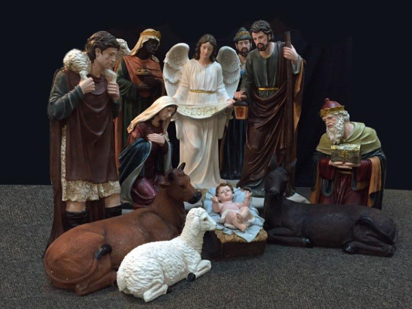 Consider, that Outdoor christmas yard nativity scene