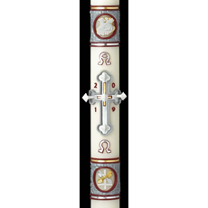 Upon This Rock Paschal Candle