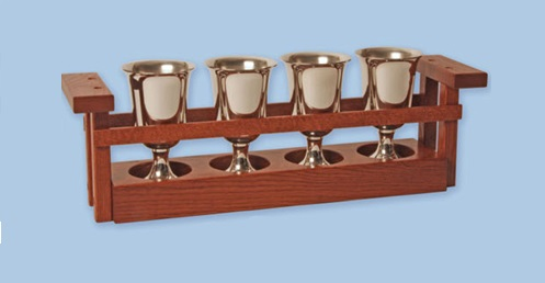 Church Communion Cup Carrier for Sale in Red Mahogany Stain