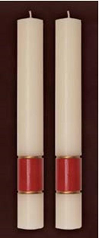 "Gloria Burgundy Side Altar Candles 1-1/2"" x 12"""