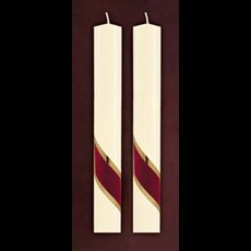 "Crimson Glory Side Altar Candles 1-1/2"" x 12"""