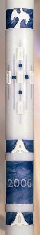 "Ascension Paschal Candle - 1 15/16"" x 39"""